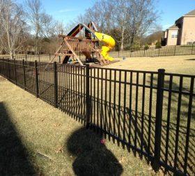 Aluminum fence, style B