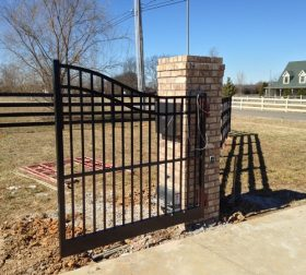 Arched aluminum estate gate