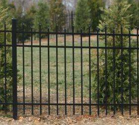 Aluminum perimeter fence