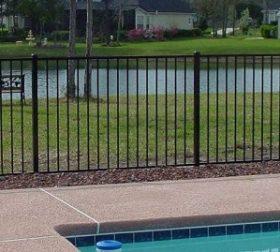 Style E aluminum pool fence