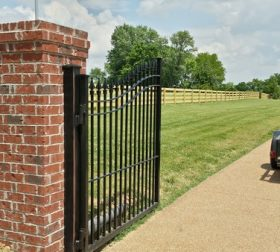 Arched aluminum gate, style A