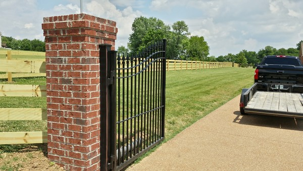 Brick And Stone Pillars : Brick and stone columns middle tennessee fence