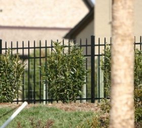 Aluminum fence, style A