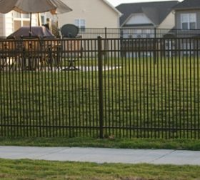 Aluminum fence with double picket