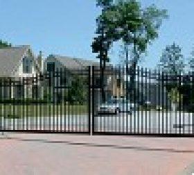 Aluminum double driveway gate