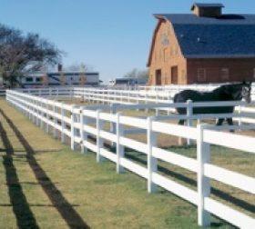 White farm fence