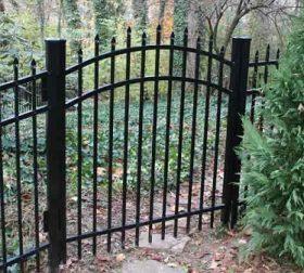 Arched aluminum gate